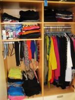 inside my wardrobe . . . . excuse the leopard print bra, LOL