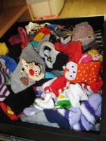 up-close shot of my sock collection . . . . I LOVE SOCKS!!!
